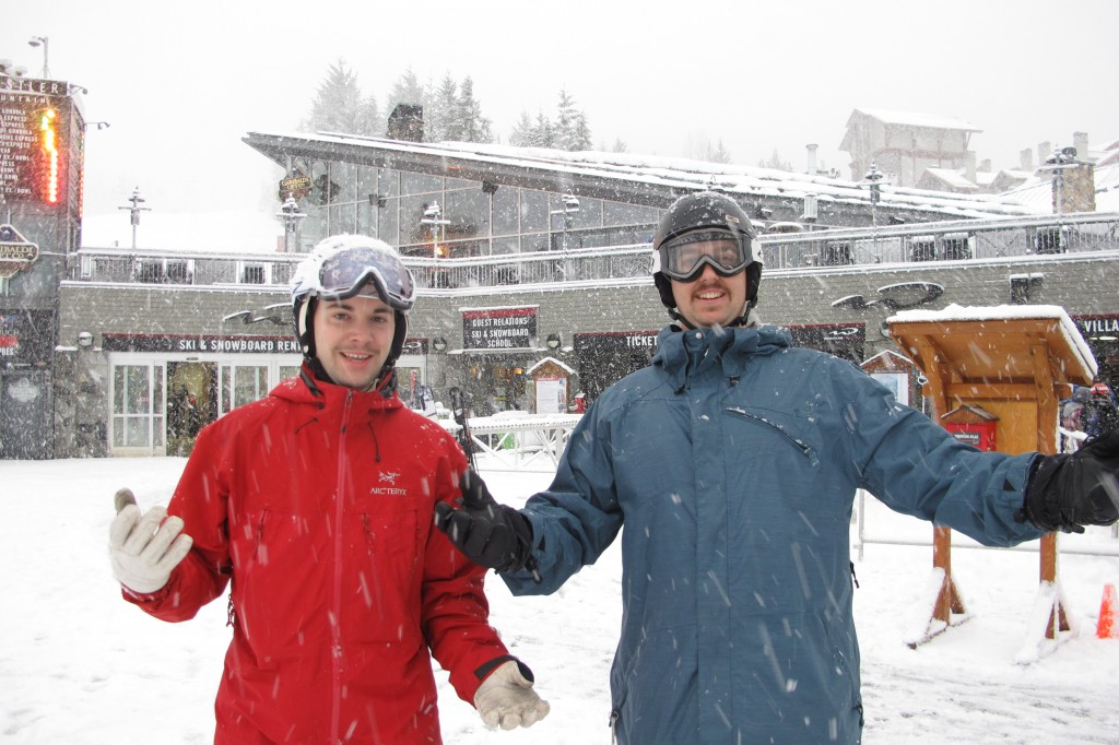 Alex and Patrick in Whistler
