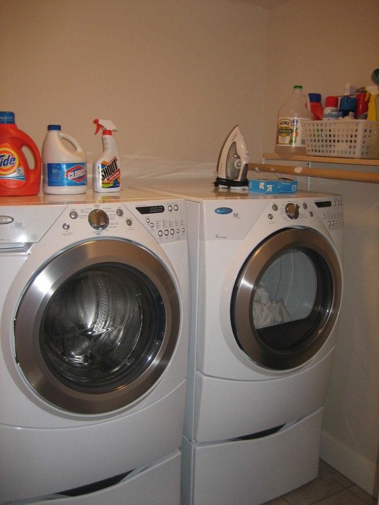 displaying our new washer & dryer