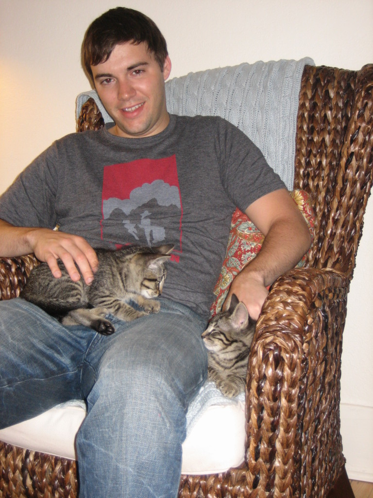 Alex and the kittens