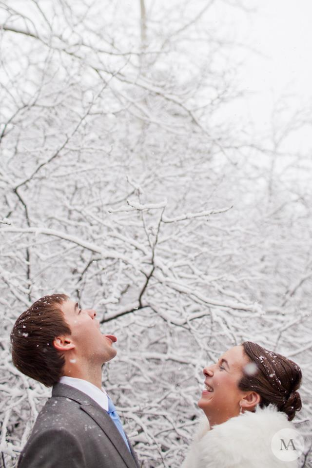 So excited for the sudden snowfall. Photo credit: www.mattalbertsphoto.com