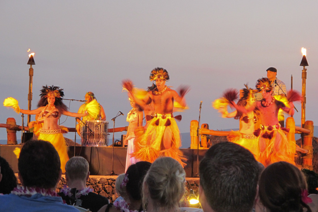 Te Au Moana Luau, complete with a fire knife dancing competition.