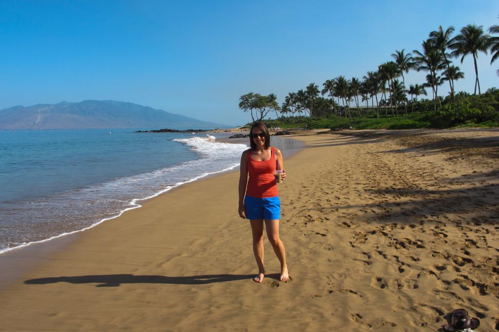 Last morning beach walk
