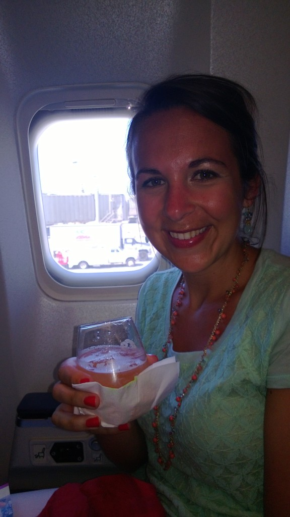On the way home with a guava memosa in hand.