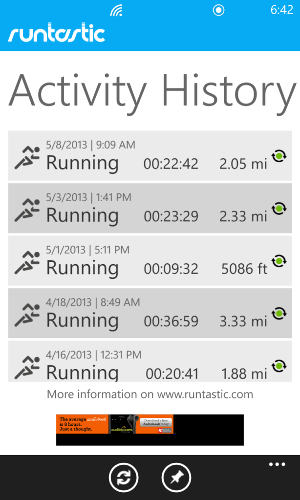 My latest runs haven't been very impressive - the 5/1 run is especially unimpressive because my phone died! I really did run 3 miles that day :)