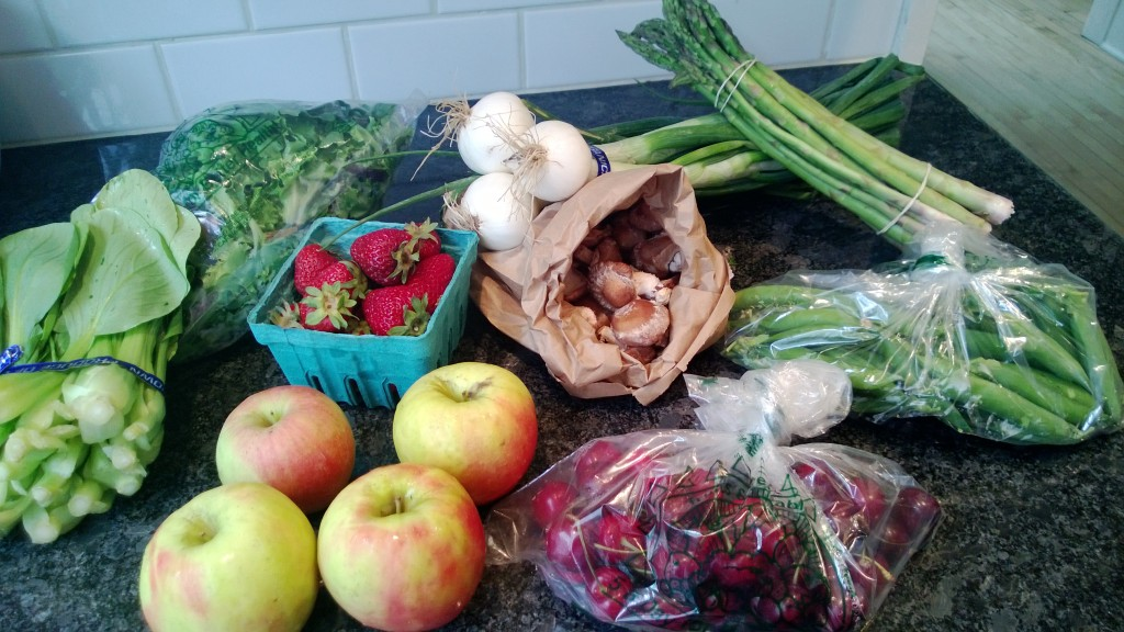 Our first CSA box arrived.