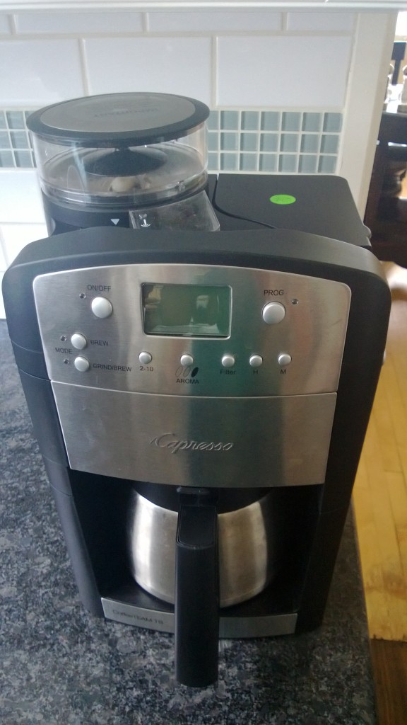 New coffee maker with grinder!