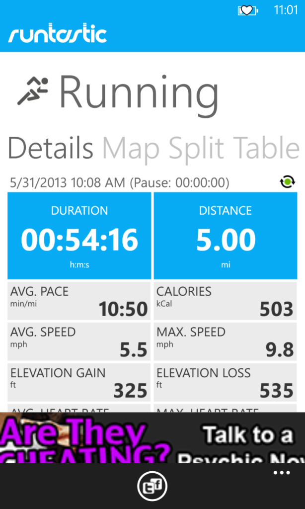 5 miles!