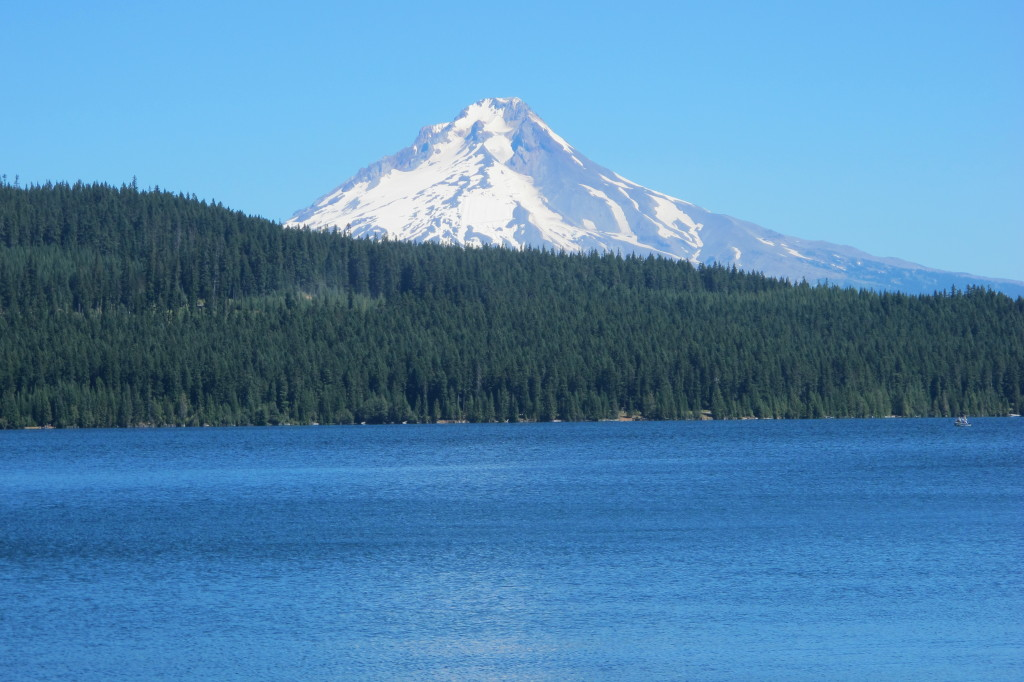 The view of Mount Hood from the campground.