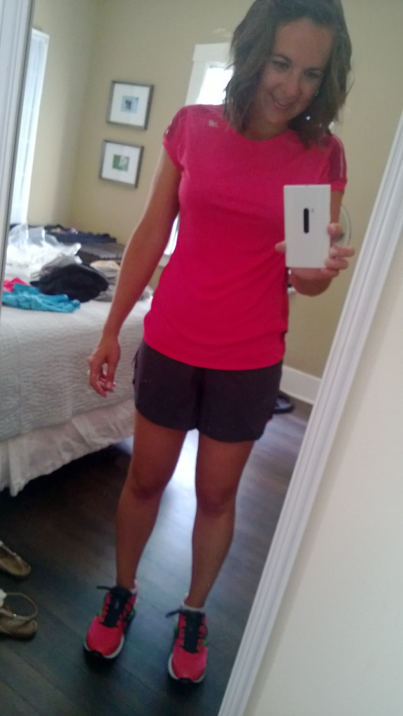 One of the new running outfits I got over the summer.