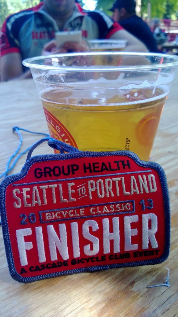 Alex finished the 202 mile bike ride from Seattle to Portland!
