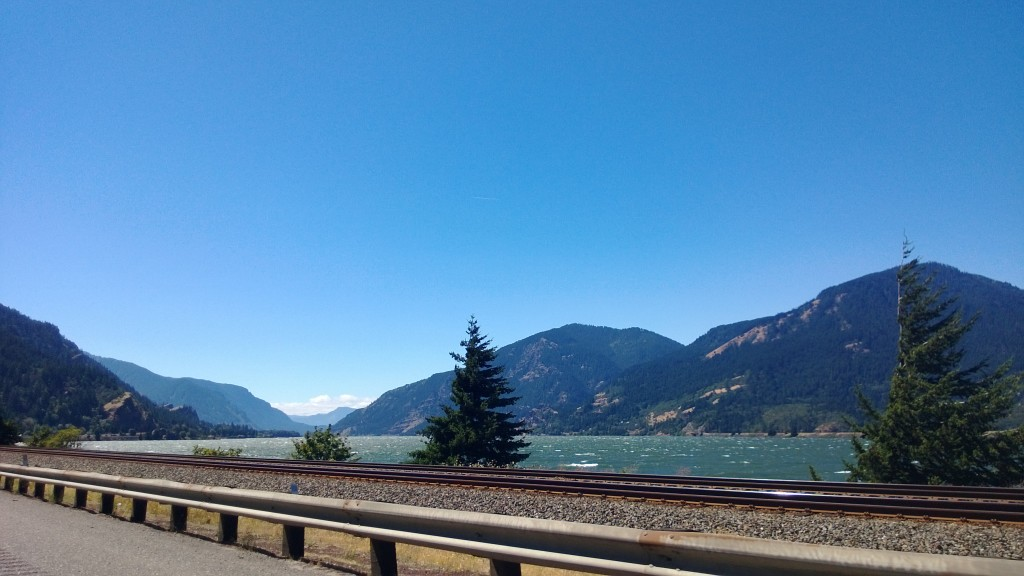 Gorgeous drive home on highway 84 in Oregon along the Columbia River.