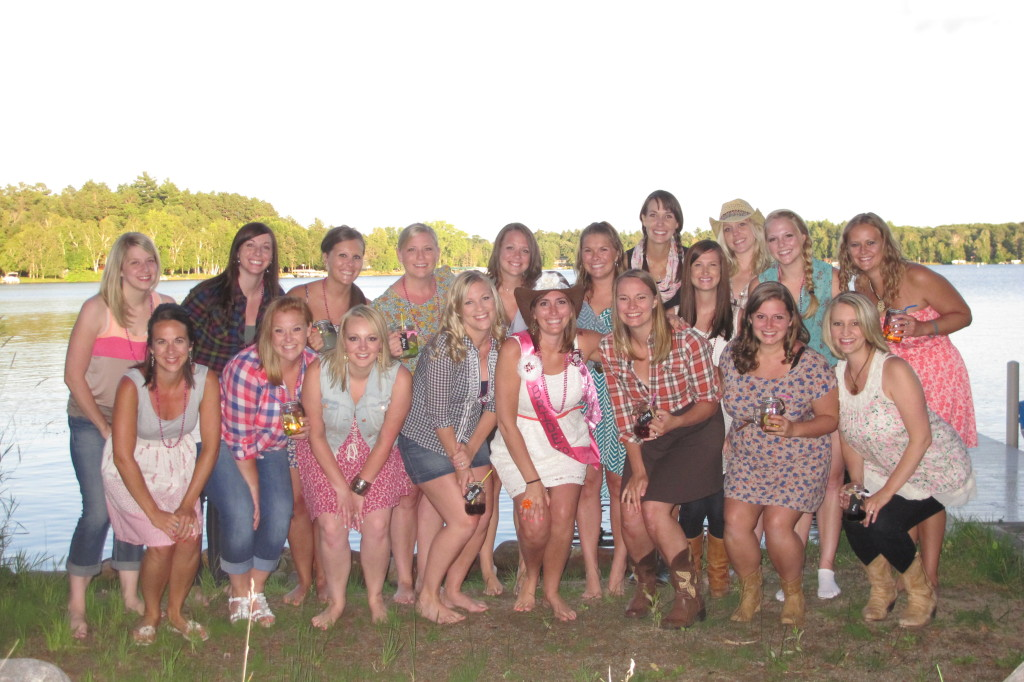 The whole group of girls.