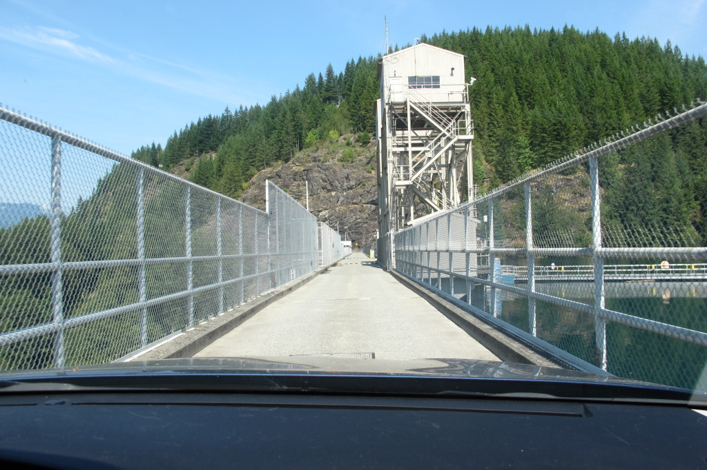 The road over the dam