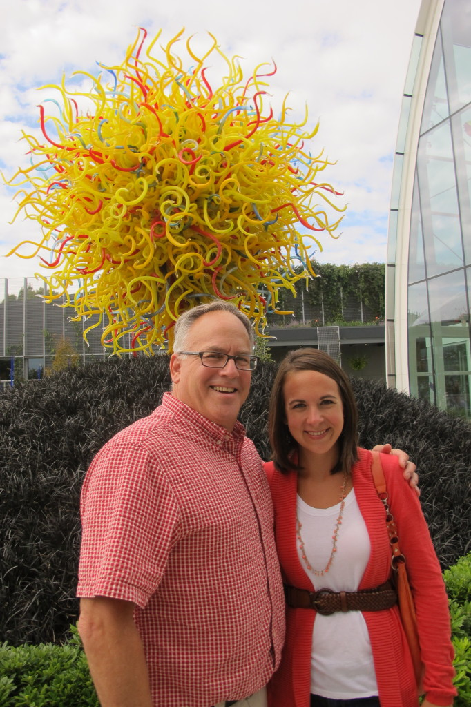 Checking out the Chihuly Museum. This was one of my favorite exhibits.