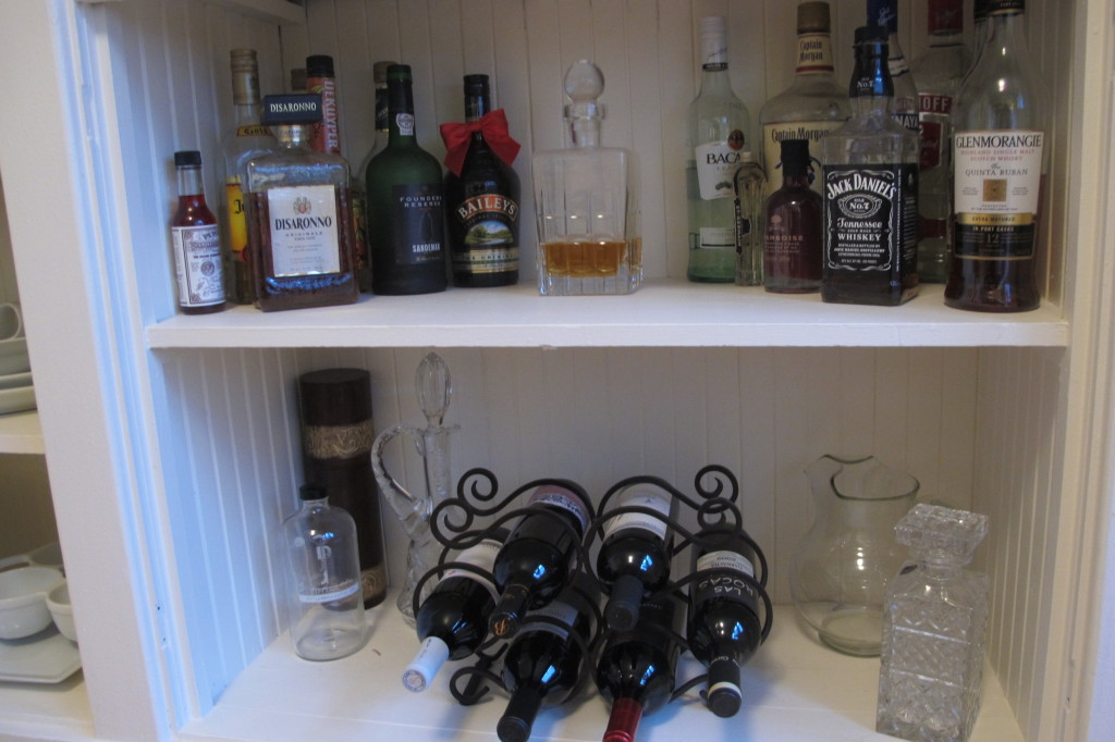 Our little liquor cabinet.