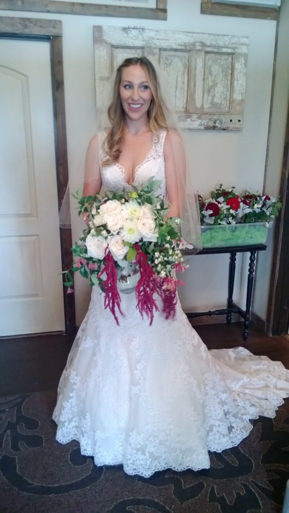 Our beautiful bride all ready to go!