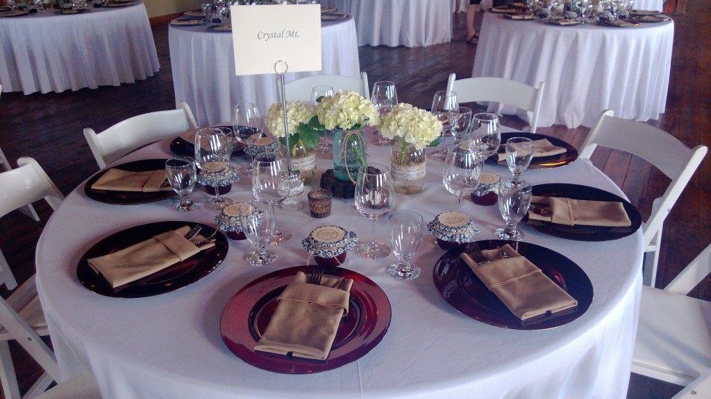 Table setting - so much work went into perfecting this look. It's so simple but so thoughtful and perfect.