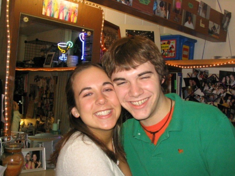 Fall of 2004 - just after we started dating. We were so young!