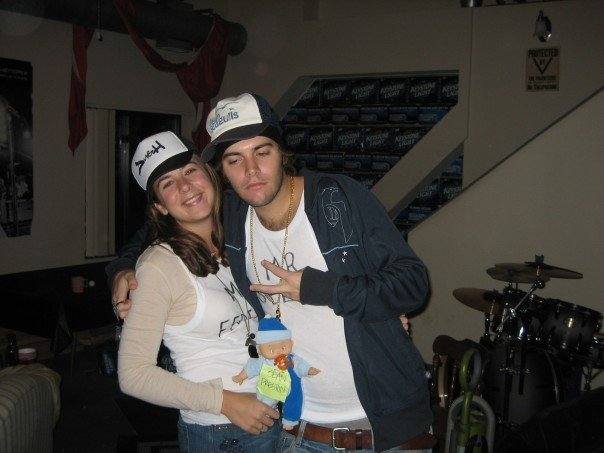 Halloween 2007 - I was Britney Spears and Alex was Kevin Federline.