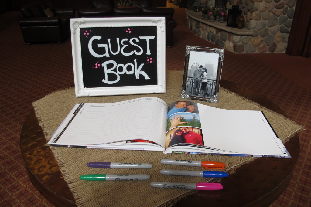 An adorable guest book.