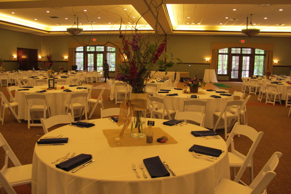 The centerpieces were just stunning! The table was not completely set when I had my last look...