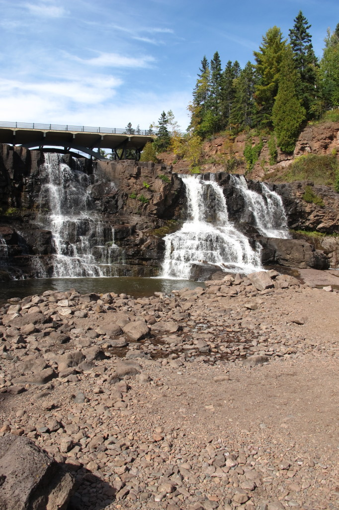 Gooseberry Falls - our first stop on the North Shore.