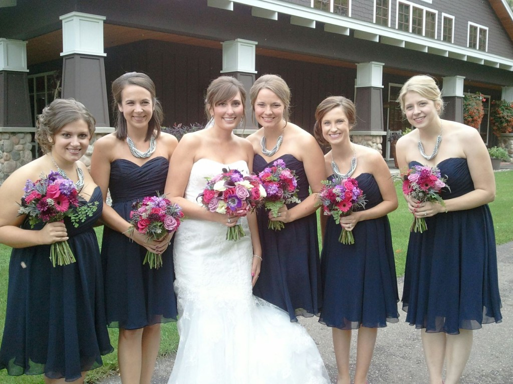 Bridesmaids at Sarah's wedding