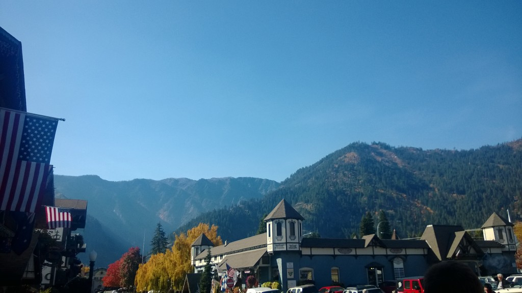 View of the Cascades from Leavenworth.
