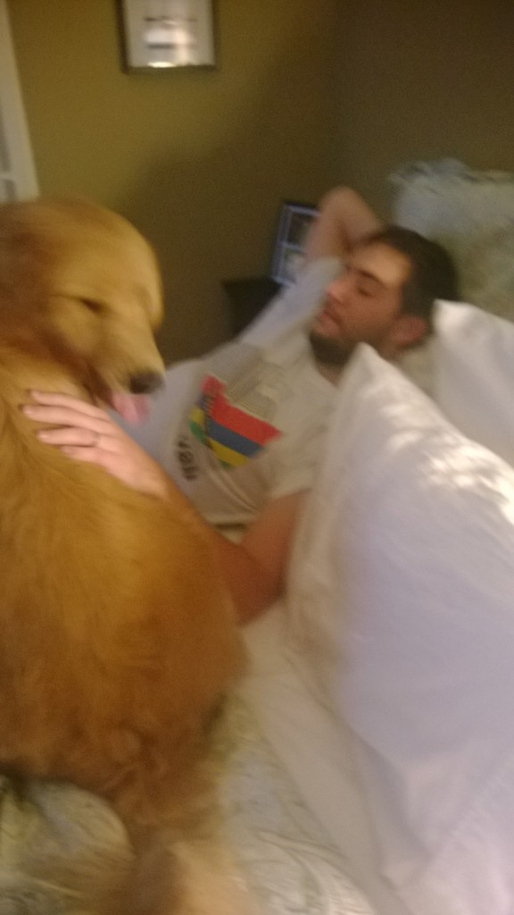 Jackson started a new tradition of jumping on our bed to get Alex up on the weekends