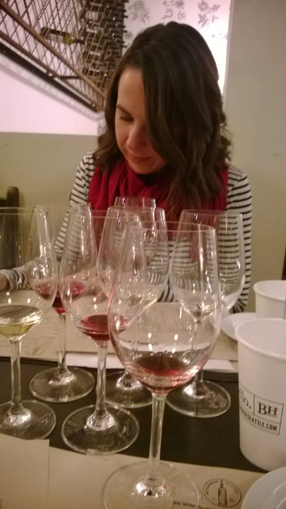 We got to sample 5 wines and learn a lot about identifying wines, as well as tasting and describing wine