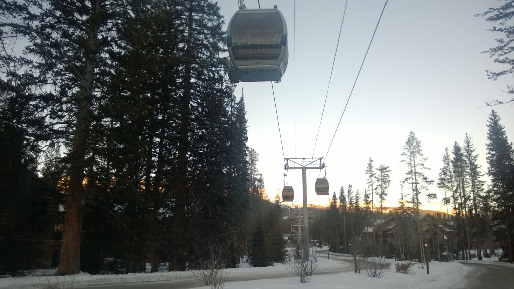 The Breck Connect Gondola near where we stayed.