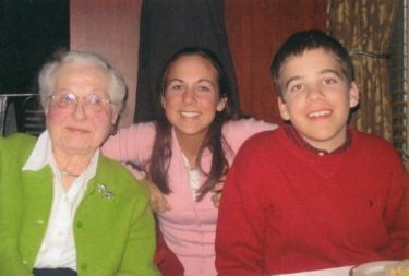 My 18th birthday with my grandma and John, who was named after my late grandfather.