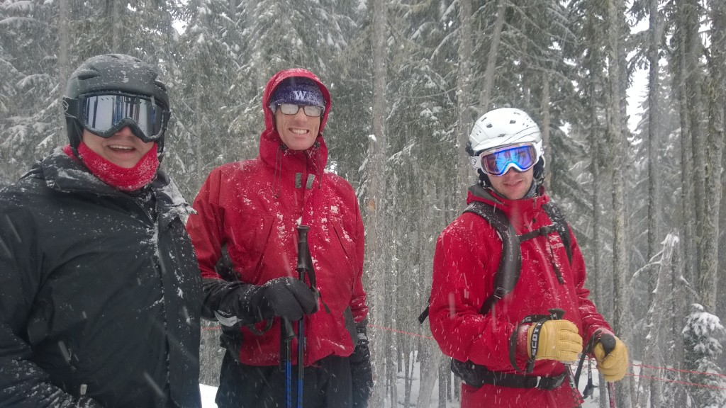 Fred, Chris and Alex ready for the powder day