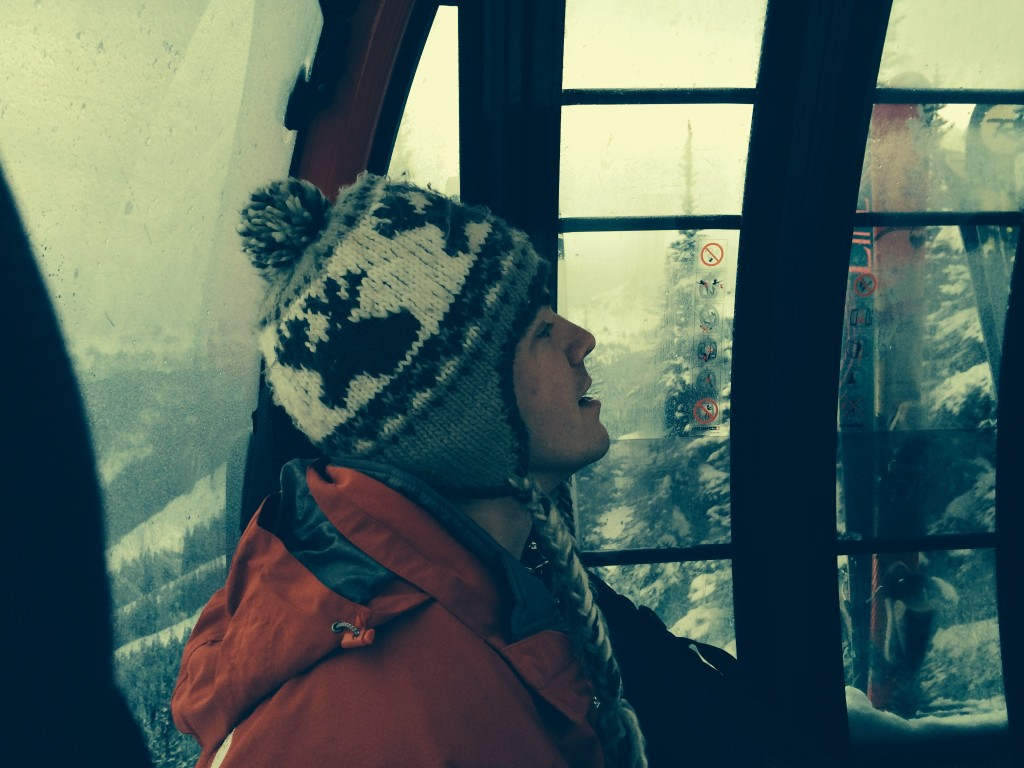 John in the gondola