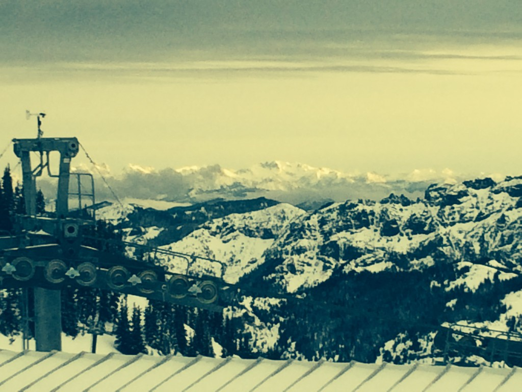 View from the top of Crystal Mountain