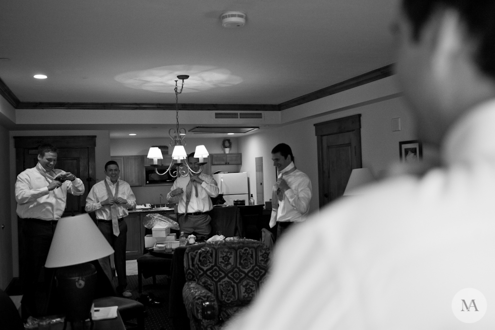 The groomsmen sure knew how to get ready in style