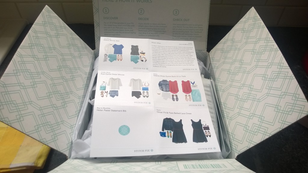 I ordered my first Stitch Fix last week! I was giddy with excitement to receive my first shipment...