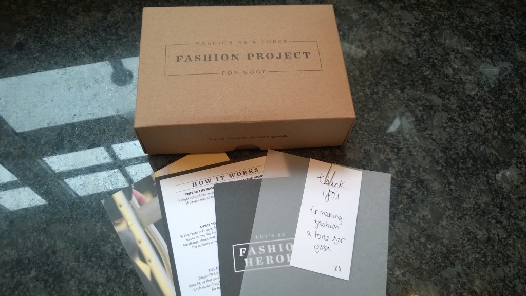 I love donating my clothes and was so happy to find Fashion Project, a non-profit that serves basically as a consignment shop and pays in Nordstrom gift cards. I sent them a handful of things I had been meaning to get rid of, especially to make room for new clothes!
