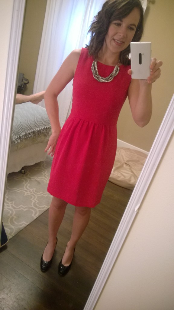 In all the excitement with my Stitch Fix, I also got an awesome birthday gift from my mom! She sent this fantastic dress for me {along with a different necklace}. I can't wait to wear it.