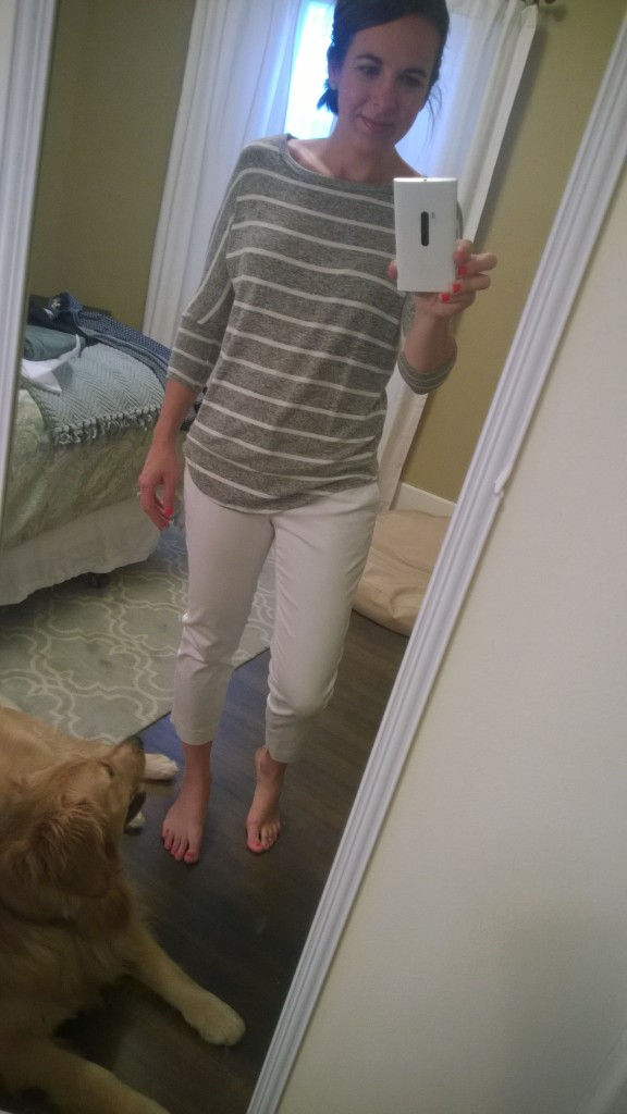A comfy, cute and casual striped top!
