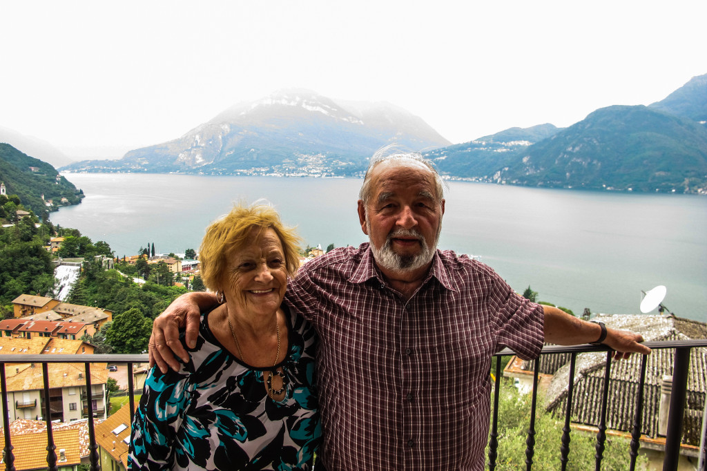 {We spent unforgettable quality time with Alex's extended family overlooking Lake Como.}