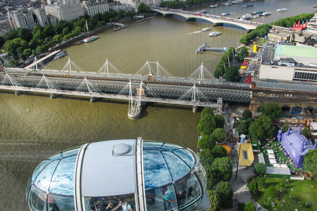 {view from the London Eye}