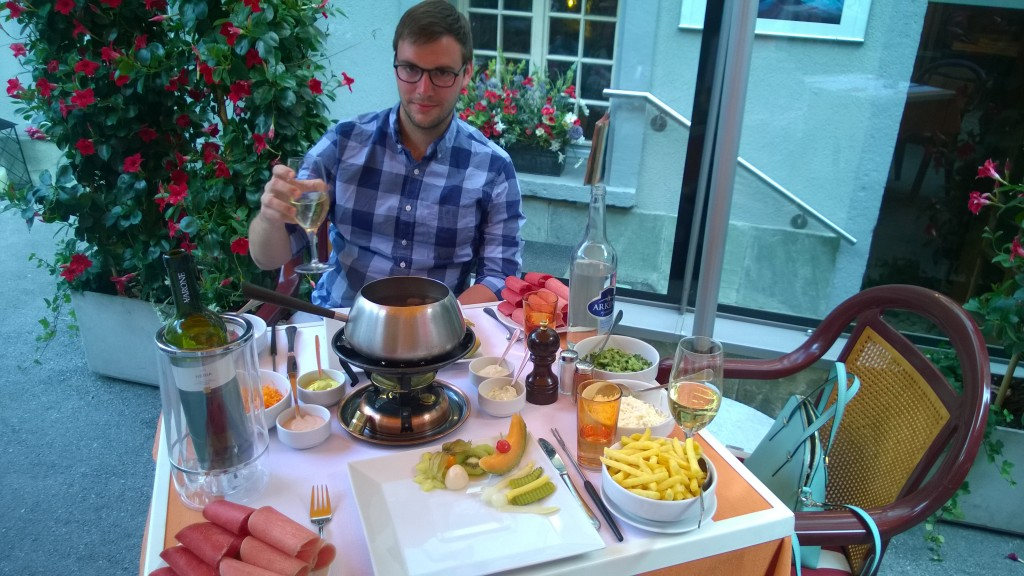 {Eating fondue in Switzerland was a highlight!}