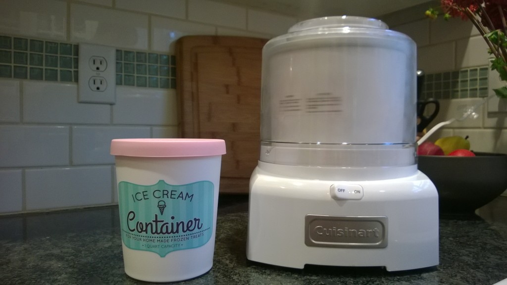 {I got an ice cream maker!!}