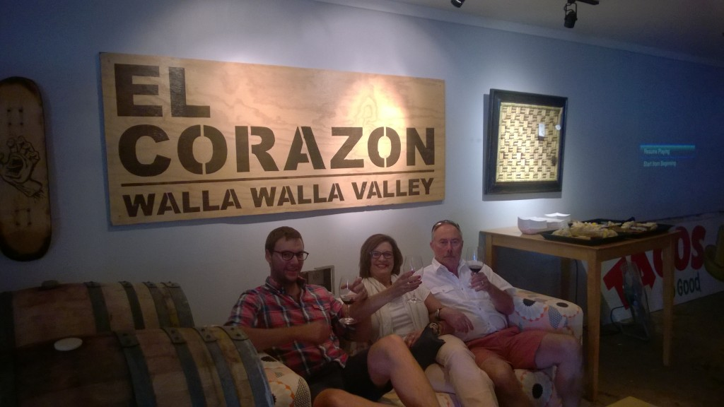 {the last stop of the day was El Corazon, the party winery... the winemaker clearly knows how to have a good time!}