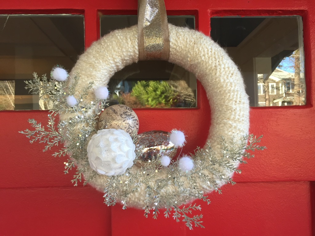 {Carrie made this beautiful wreath for me. I still can't get over the fact that it's hand crafted!}
