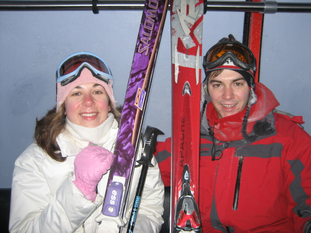 {Our first ski trip together - skinny skis and all! Whistler, December 2008}