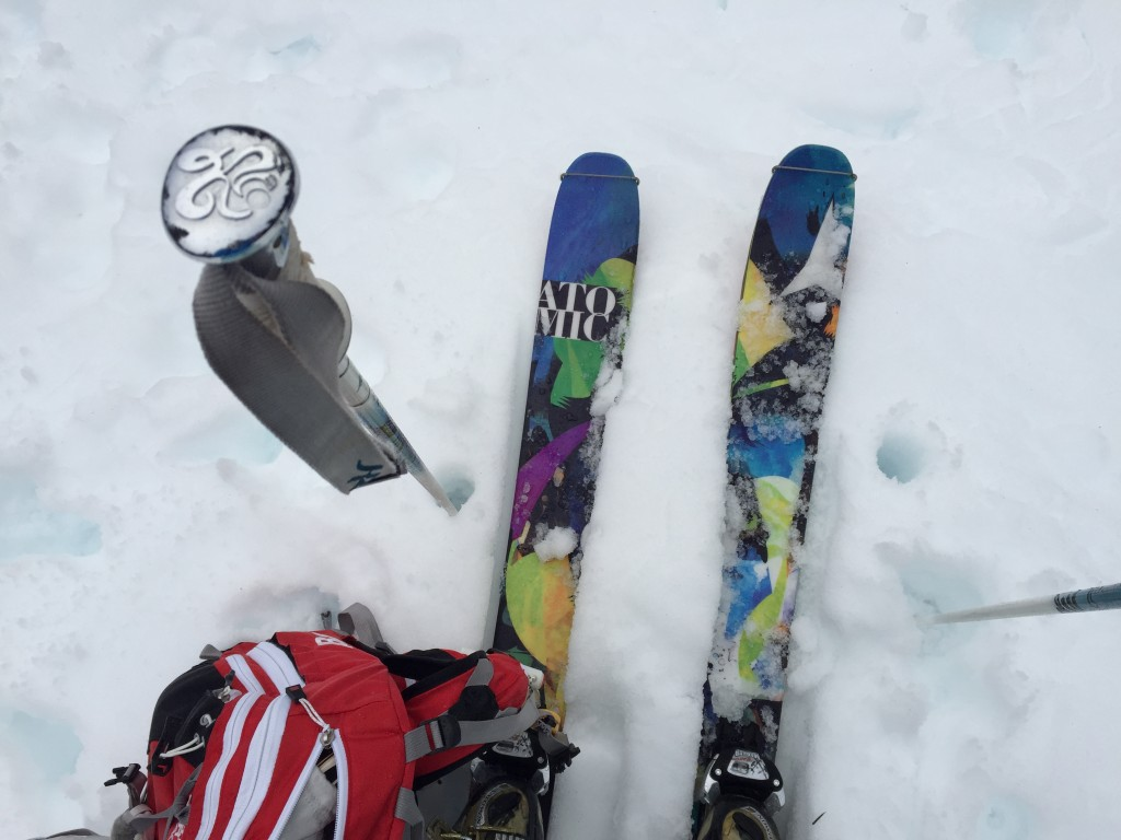 {new skis, new ABS pack}
