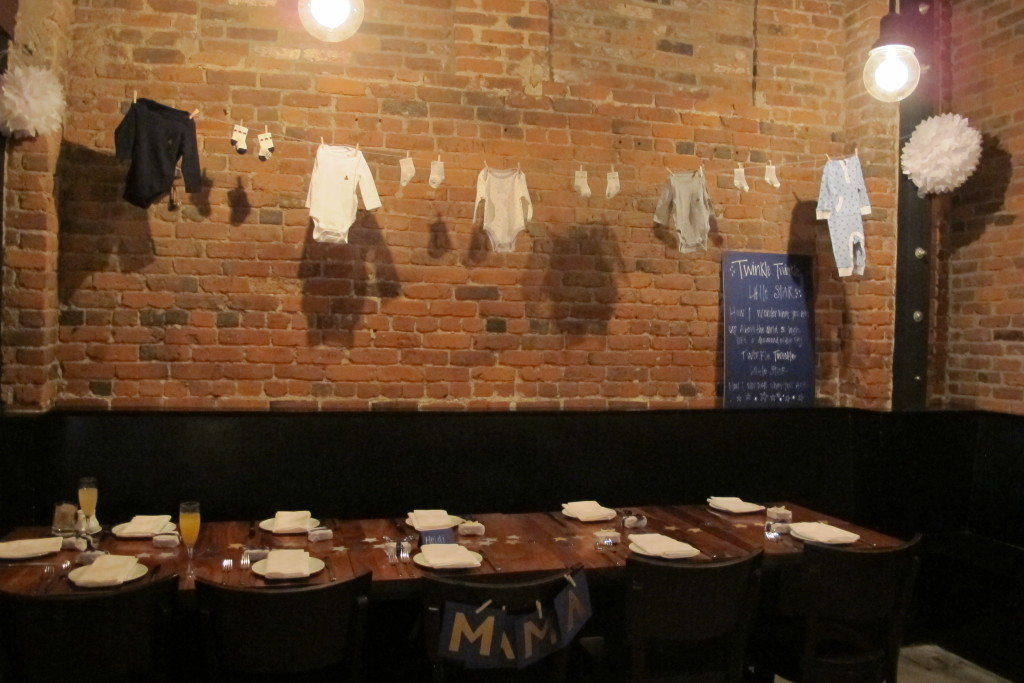 {The shower was held at re:public, a trendy restaurant in Seattle's South Lake Union neighborhood}