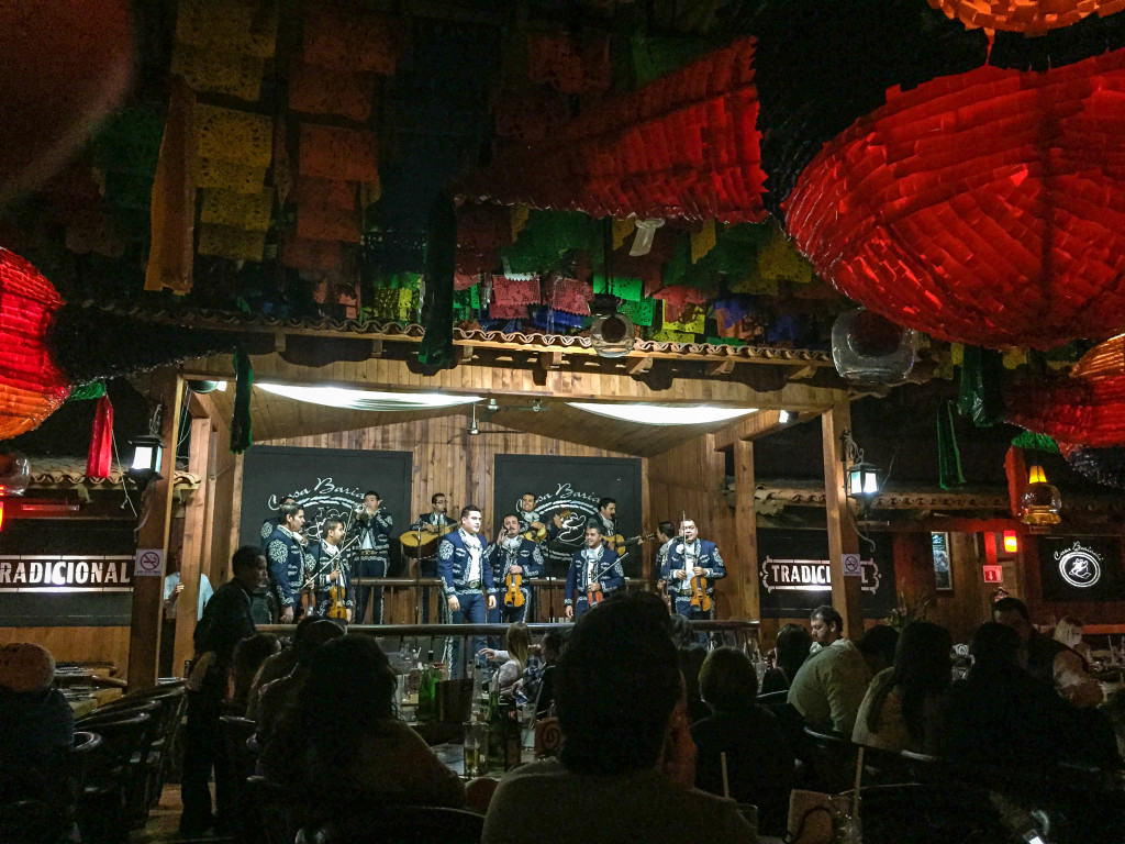 Taking in a little Mariachi... and tequila.